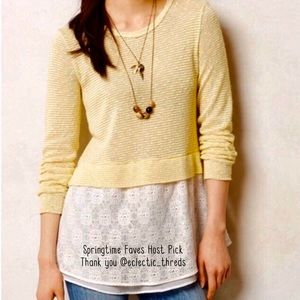 HP🌟Anthropologie Clu & Willoughby Sweater